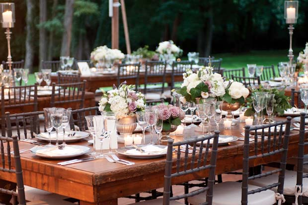 Beautiful Blooms Events   Garden Luxe Rustic Table Centerpieces