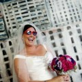 Beautiful Blooms - Hot Pink & Black Franklin Institute Museum Wedding