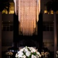Beautiful Blooms - Atrium at the Curtis Center Wedding Chandeliers