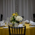 Beautiful Blooms - Black White Lemon Yellow Curtis Center Philadelphia Party