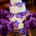 Beautiful Blooms Purple Cake