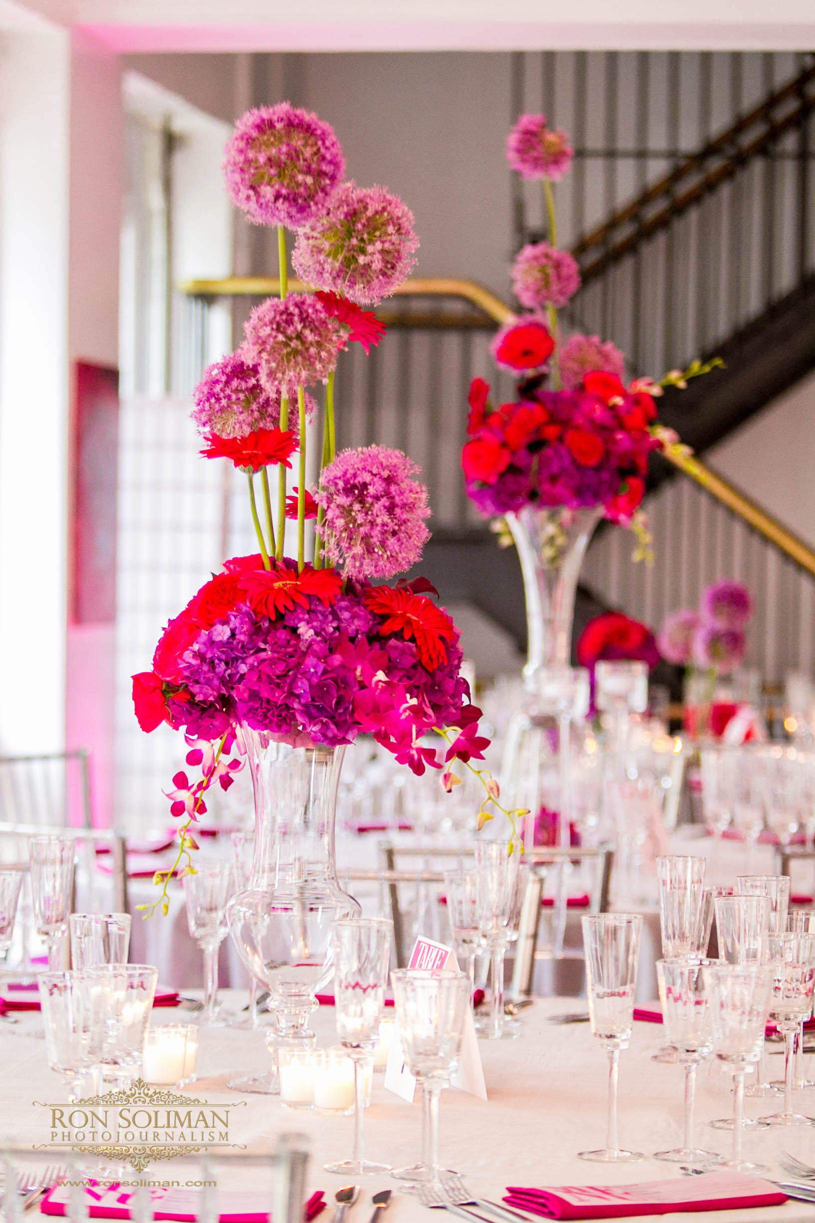 Beautiful Blooms Philadelphia Trust Wedding Pink Purple Modern