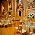 Beautiful Blooms Hotel Dupont Romantic Gold Ivory Champagne and White Wedding Tall Centerpieces Hydrangea