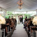 Beautiful Blooms MK Photo Morris House Hotel White Wedding Outside Ceremony Aisle Runner White Urns