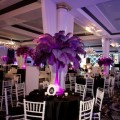 Beautiful Blooms Phil Kramer Vie New Year's Eve Party Purple Feather Centerpieces