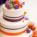 Beautiful Blooms Sweetwater Portraits National Constitution Center Wedding Fresh Flower Cake Plum and Orange