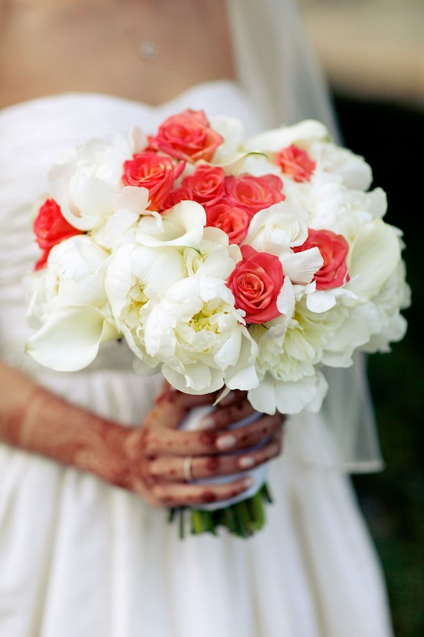 Wedding wednesday springtime white coral beautiful blooms florals mightylinksfo