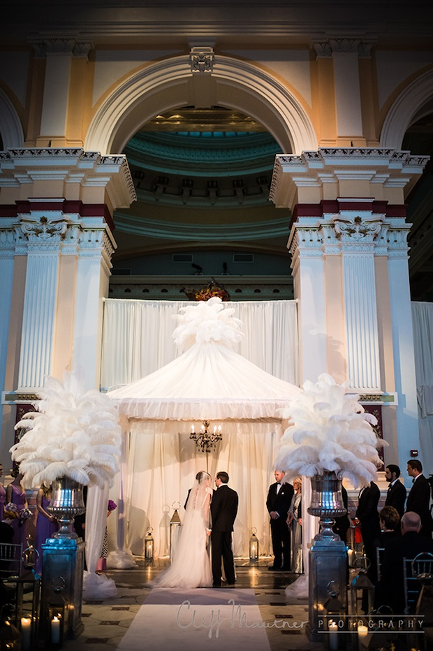 Wedding Wednesday Elegance In Purple White And Silver