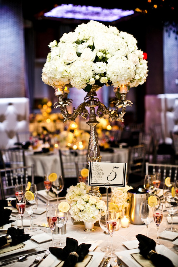 Friday Feature Tall White And Ivory Floral Centerpieces Beautiful