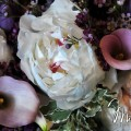 Beautiful Blooms Michaels Photography Callas, Peonies, Wax Flower, Stock, Pink, Purple, White Cascade Bouquet, Curtis Center