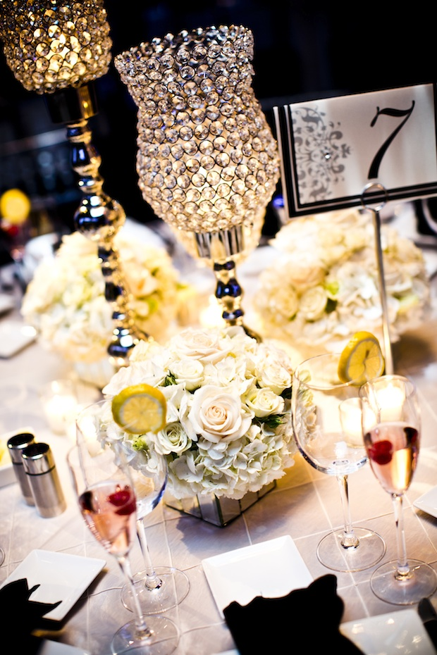 Wedding wednesday crystal silver and white beautiful