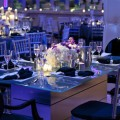Beautiful Blooms Tendenza Wedding Reception White and Purple Flowers Susan Beard