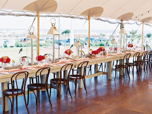 Beautiful Blooms Trent Bailey Photography Head Table Rock Paper Scissors Congress Hall Tented Wedding