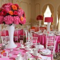 Beautiful Blooms Eschelon Photographers Candy Bat Mitzvah Pink Orange White Gerber Daisies Roses Hydrangea White Vase