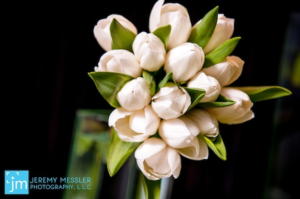 Beautiful Blooms Jeremy Messler Vie Bar Mitzvah Green and White Golf Tulips Escort Card Table Place Card Table