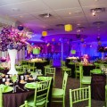 Beautiful Blooms BarrieAnne Photography Purple and Green and Brown Bat Mitzvah B'Not Mitzvah Purple Orchicds Purple Lighting Draping Philmont Country Club