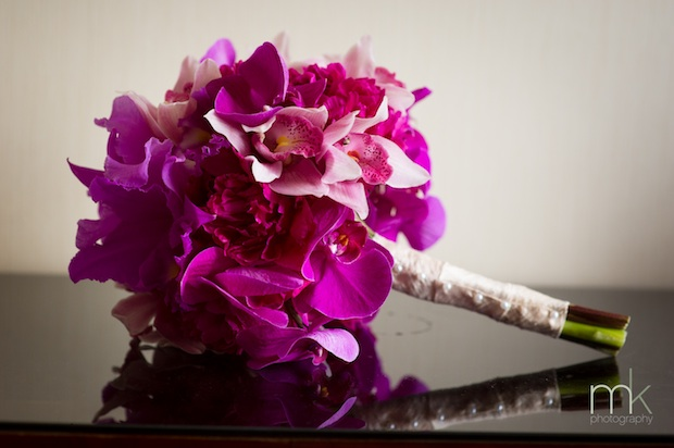 Beautiful Blooms MK Photo Phalenopsis Cattelaya Orchids Bouquet Magenta Flowers