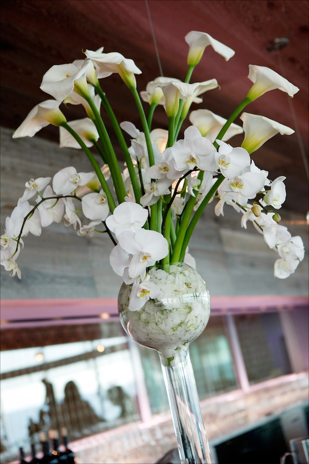 Beautiful Blooms Marie Labbancz Tall Centerpiece One Atlantic Phalenopsis Orchids
