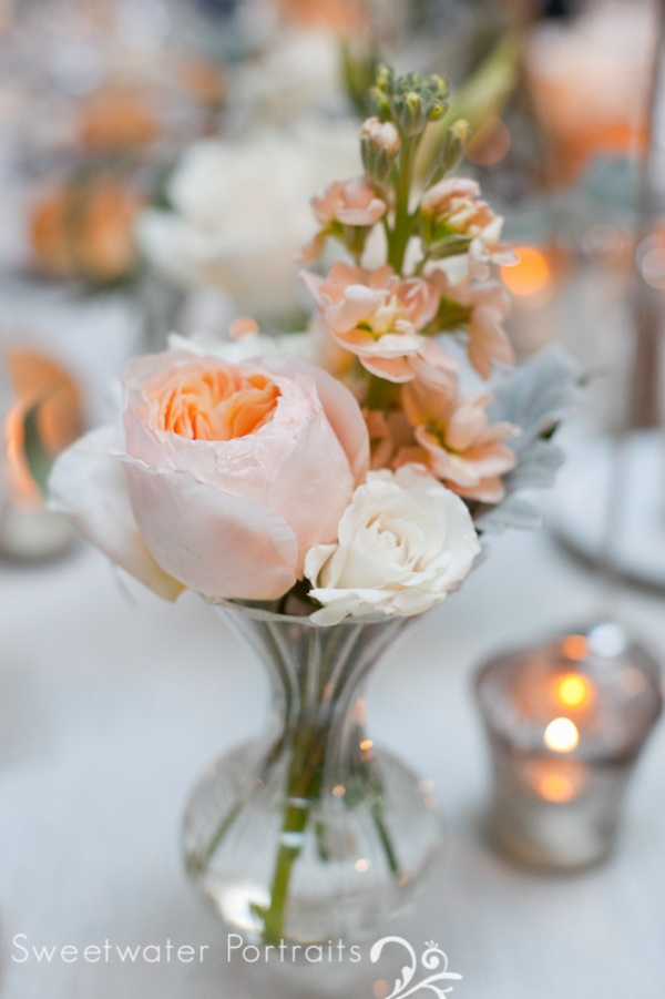 Wedding wednesday peach and ivory beautiful blooms