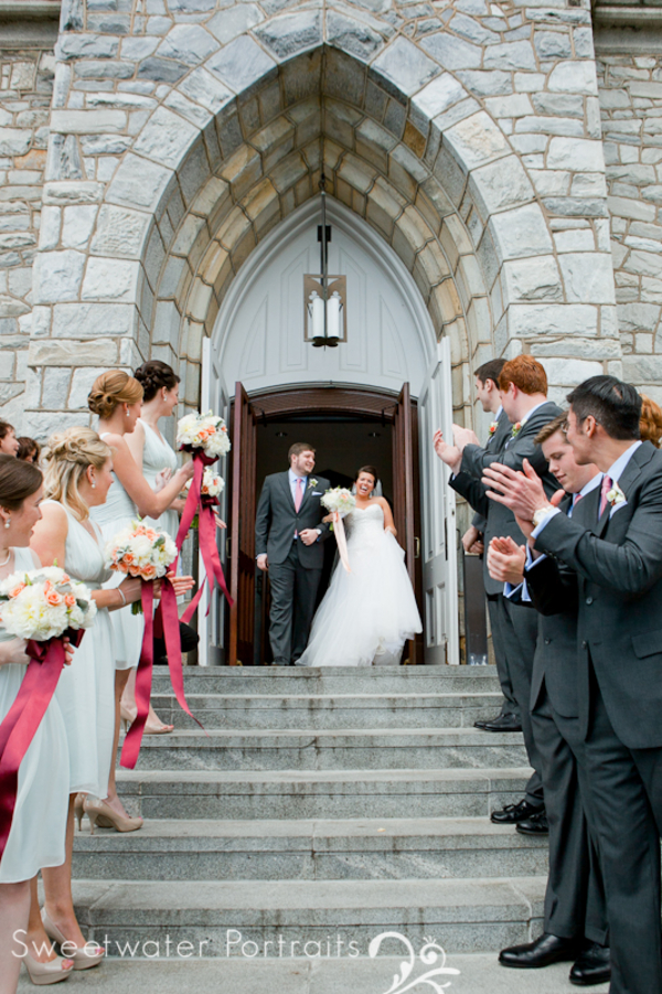 Beautiful Blooms Sweetwater Portraits Curtis Center Wedding Reception Peach Ivory White Bouquets