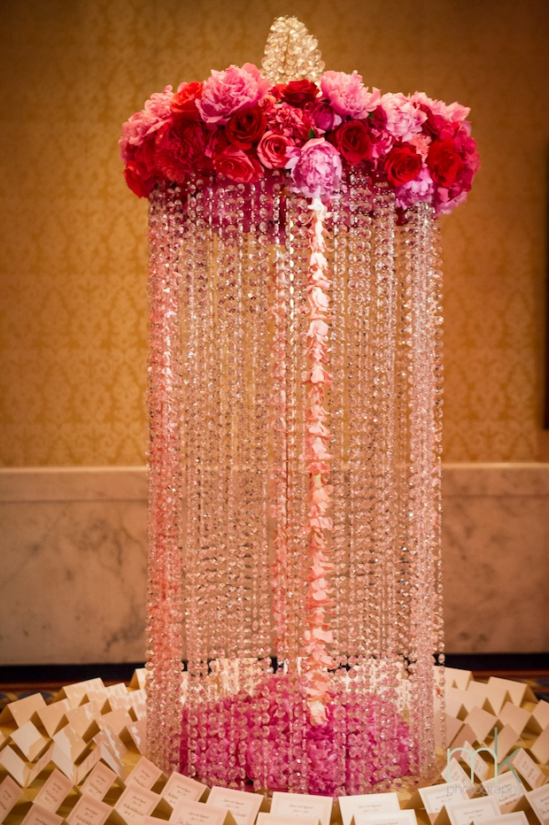 Beautiful Blooms dendrobium orchids garland crystals place card table Ritz Carlton Philadlephia