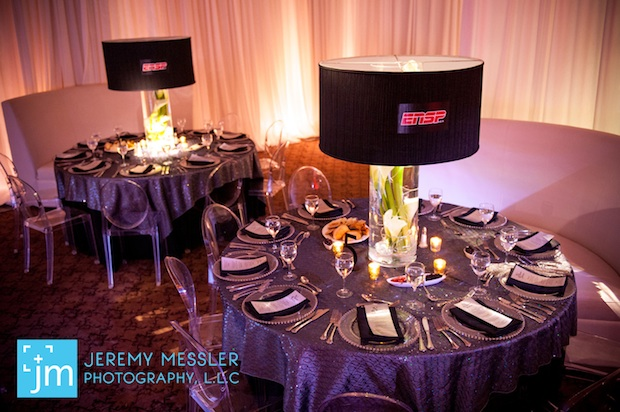 Friday feature noahs sports bar mitzvah beautiful blooms beautiful blooms jeremy messler bar mitzvah sports bar lampshades calla lilies logo ghost chairs sequin linens mozeypictures Choice Image