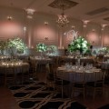 Beautiful Blooms Phil Kramer Cescaphe Unveiling Party Tall Centerpieces Cherry blossom Branches White and Greenery Hydrangea Roses