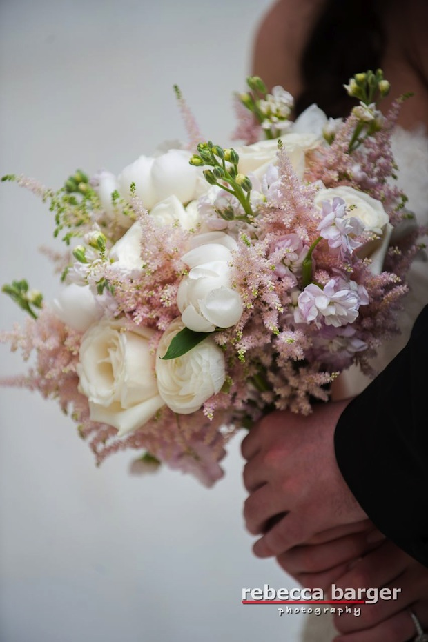 Wedding wednesday light pink ivory and lavender beautiful blooms beautiful blooms rebecca barger the down town club bridal bouquet astilbe ranunculus stock roses peonies mightylinksfo