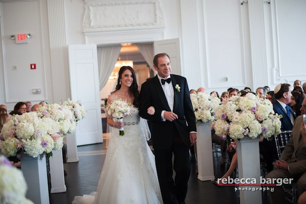 Beautiful Blooms Rebecca Barger The Down Town Club Ivory Flowers Lavender Flowers Light Pink Pedestals Ceremony