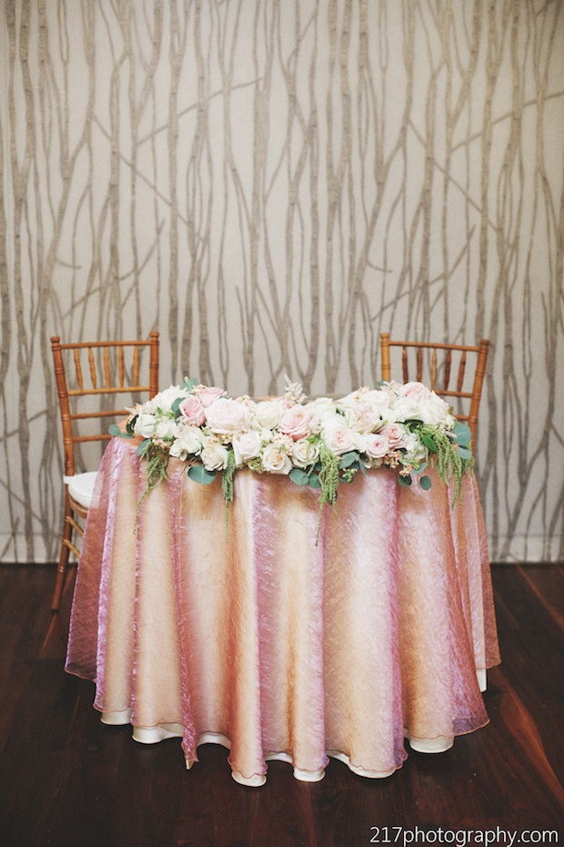 Wedding Wednesday: Light Pink White & Gold Beautiful Blooms