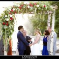 Beautiful Blooms Horticulture Center Chuppah Mandap Birch Poles AsymetricalFlowers Pink One Greenery Roses Ivy Snapdragons Langdon Photography Outside Ceremony