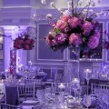Beautiful Blooms Joe Pulcinella Photography Pink Tall Centerpieces Cherry Blossom Hydrangea Roses Cylinder Vase Floating Candles Arts Ballroom