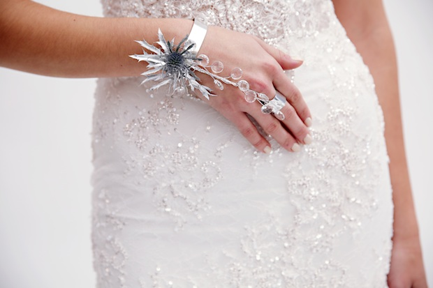 Beautiful Blooms Marie Labbancz Berta Bracelet Bling Silver Thistle