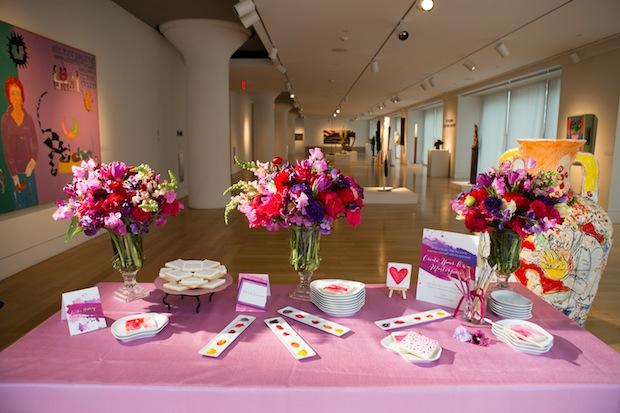 Beautiful Blooms Asya Photography Truly You Events Pink and Purple Flowers Paint your treats Floral Centerpieces Tulips Sweetpeas Roses Sweet Peas Spray Roses Ranunculus