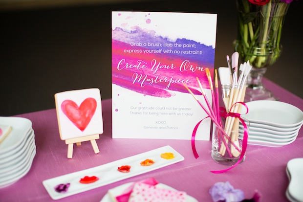 Beautiful Blooms Create Your Masterpiece Pink and Purple Paint Truly You Events Asya Photography Starr Events