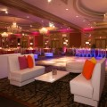 Beautiful Blooms The Westin Phil Kramer Bat Mitzvah Pink Orange Yellow Lounge Pillows Pink Lighting Cherryblossom