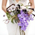 Beautiful Blooms Marie Labbancz The Wedding Factor Berta Dress Cascade Woodland Garden Branch Bouquet Bride