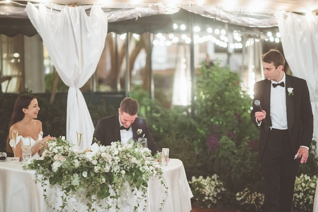 Beautiful Blooms Styled Creative Paper Antler Photography Saucon Valley Country Club Tented Wedding Sperry Lucite Chair Sweetheart Table Dripping Flowers White and Green