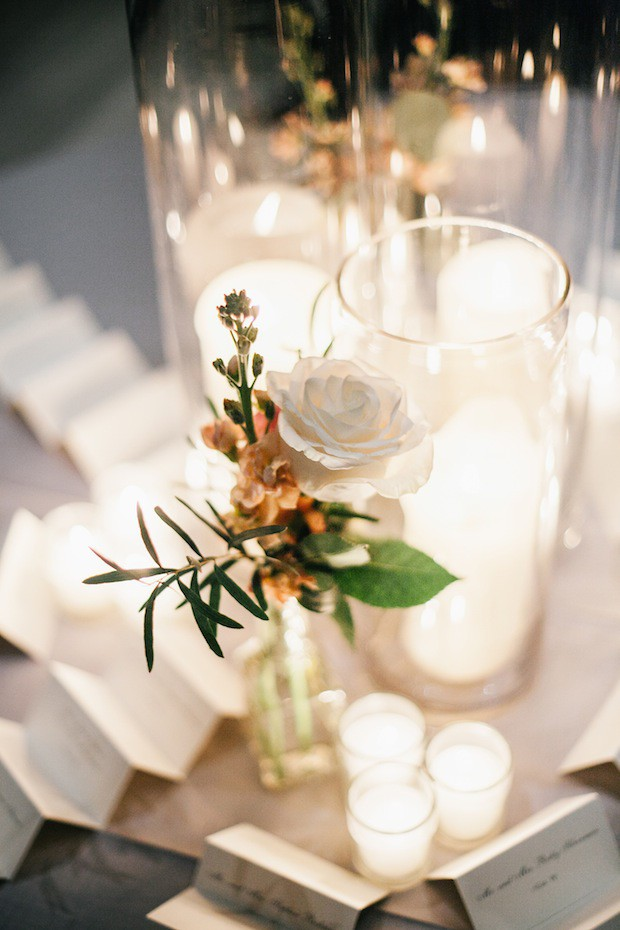 Beautiful Blooms Emily Wren Photography Le Meredien Place Card Table Bud Vases Pillar Candles Votives Wedding Reception