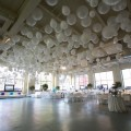 Beautiful Blooms Phil Kramer Moulin Bat Mitzvah Balloons Twinkle Trees White Linens White Chairs
