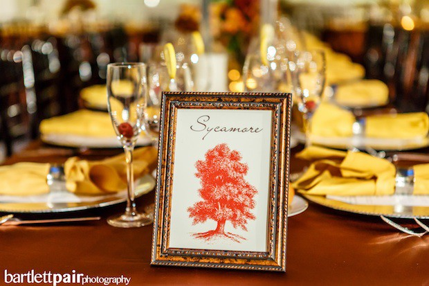 Beautiful Blooms BartlettPair Table Numbers Fall Wedding Curtis Center Tree Autumn Colors