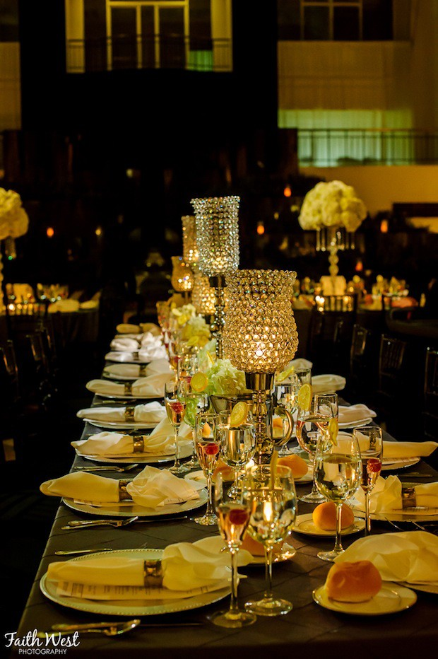 Beautiful Blooms Faith West The Curtis Center Crystal Beaded Candleholders Candlelight Long Tables