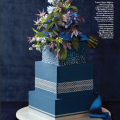 Beautiful Blooms Philadelphia Wedding Magazine Blue Bouquet Photo Shoot Roses Muscari Clemantis Delphinium