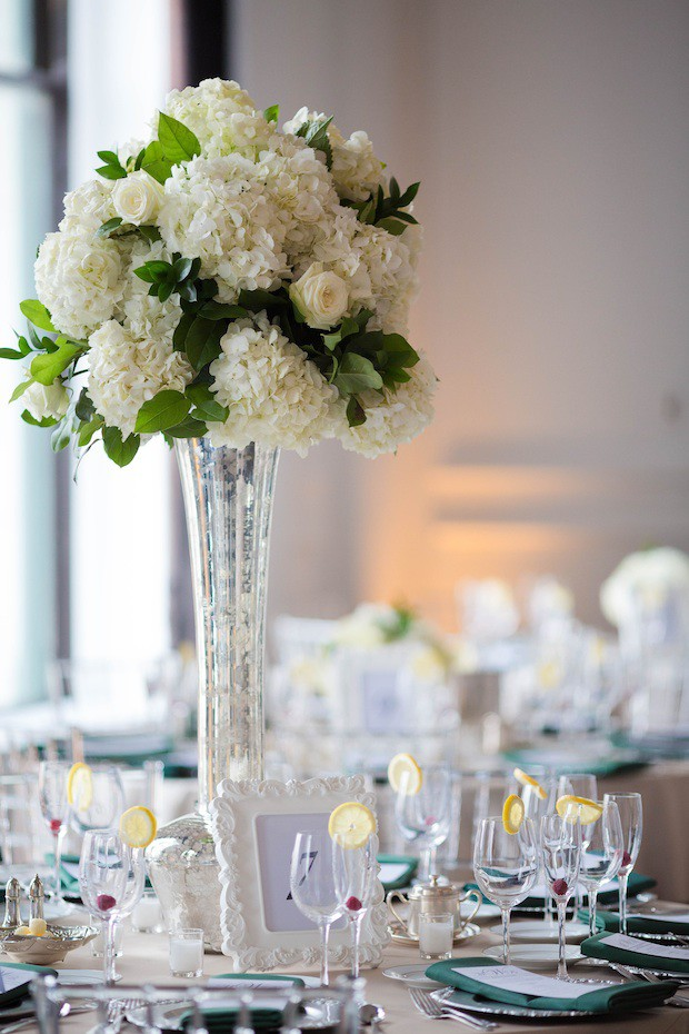 Wedding wednesday emerald white and silver beautiful