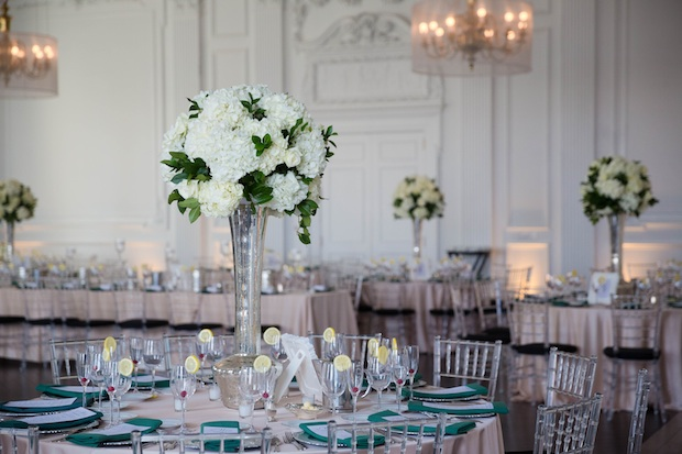 Wedding Wednesday: Emerald, White and Silver | Beautiful Blooms