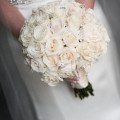 Beautiful Blooms MK Photography Rose Bouquet Ivory Roses Crystals Bride Vie Philadelphia Wedding Party
