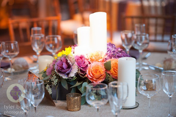 Beautiful Blooms Tyler Boye Phoenixville Foundry Candles Fall Flowers Wood Box Low Centerpiece Wolfram Pater