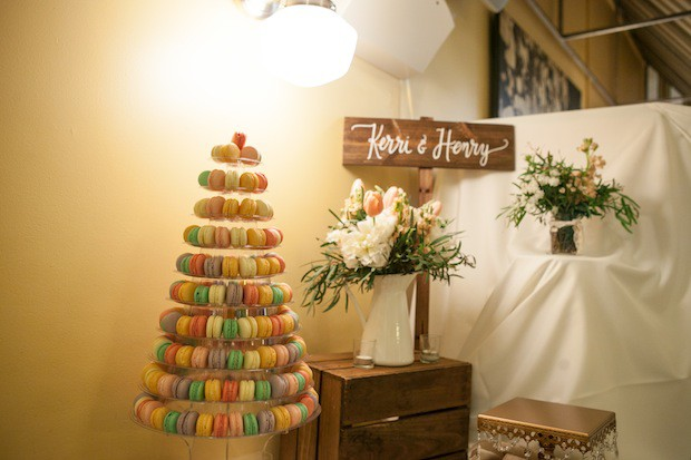 Beautiful Blooms Laura Eaton Tower of Macarons Tower Di Bruno Brothers Cocktail Party Wedding
