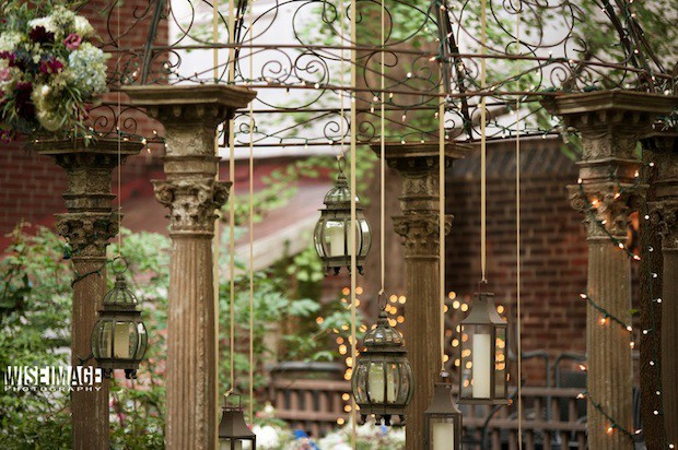 07 Beautiful Blooms Morris House Hotel Wedding Gazebo Hanging Lanterns
