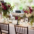 10 Beautiful Blooms Morris House Wedding Tablescape White Blue Fuchsia Eclectic